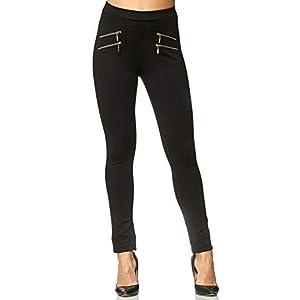 Elara Pantaloni Donna Elasticizzati Cintura Alta Chunkyrayan 3