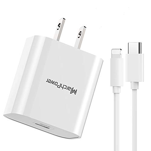 iPhone Fast Charger - MFi Certified - 20W USB-C Power Adapter Wall Plug 6ft Type-C to Lightning Cable Quick Charge Sync Cord Compatible with iPhone 12 SE 11 Pro MAX X XS XR 8 AirPods Pro iPad (2020)