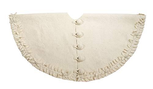 (Arcadia Home (ARD4L) Handmade in Felt - Poinsettia Wreath Christmas Tree Skirt, 60