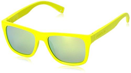 Lacoste Men's L816S Rectangular Sunglasses, Matte Lemon, 54 -
