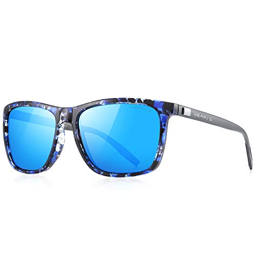 MERRY'S Polarized Sunglasses for Women Aluminum Men's Sunglasses Driving Rectangular Sun Glasses for Men/Women