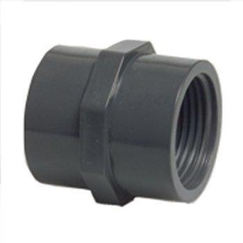 AQUARISTIK-PARADIES Muffe 2 x Innengewinde 2 1//2 aus PVC