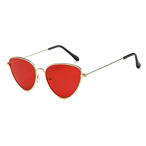 Red Style MOD Hzjundasi sunglasses series personality Cat metal eye Retro frame Full style BHwxa7q