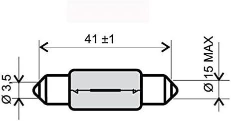 RMS Lampadina 6 volt-18 watt t15x42 siluro Bulb 6V-18 Watt t 15x42 torpedo