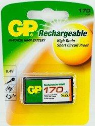 GP PP3 9V NiMH 8.4v 170mAh rechargeable battery by GPBatteries