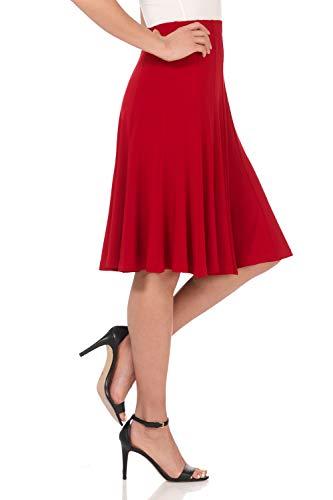 Rekucci Women's Ease into Comfort Flared Knee Length Knit Skirt
