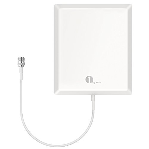 1byone Indoor Cellular Antenna, Multiband Panel Antenna for GSM/3G/4G Cellphone Signal Boosters and Repeaters for All Carriers and WiFi/WLAN Point to Point Use, N Female Connector - White ()