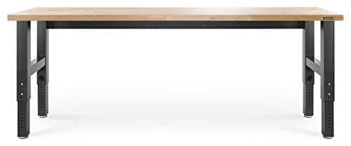 (Gladiator GAWB08HWEG Adjustable Hardwood Workbench, 8')