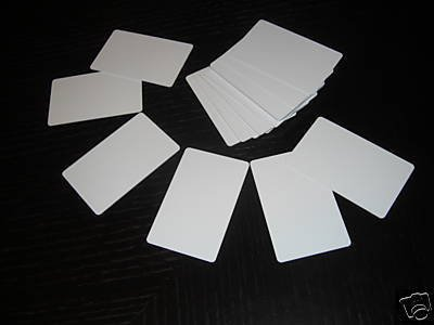 100 Blank PVC Plastic Photo ID Cards White 20Mil CR80