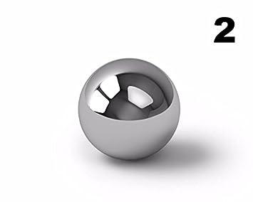 BC Precision 2-2BCSS 2' Chrome Steel Ball Bearings G100-2 Balls