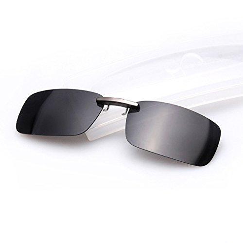 Lulujan Polarized Sports Sunglasses Clip On Lens Glasses for Men Women (Dark - Choose How For Glasses To Lenses