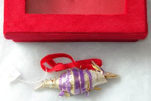 Dillard's Exclusive Cloisonne Armadillo Christmas Ornament 4