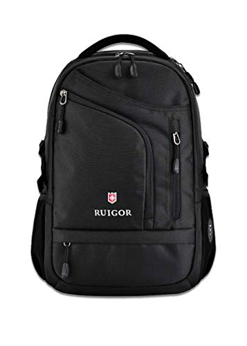 Ruigor Swiss Active 66 Backpack (Black) with Water Repellent Materials