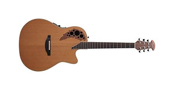 Ovation S de guitarra acústica Elite T MID Cutaway Cedar Natural ...