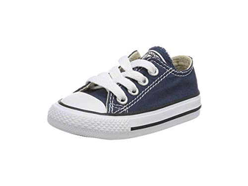 Converse Unisex-Baby Chuck Taylor All Star  Low Top Sneaker, navy, 3 M US -