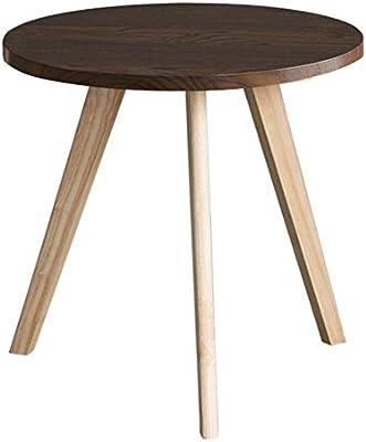 Amazon.com: ZAYBJ XRXY - Mesa auxiliar de madera maciza ...