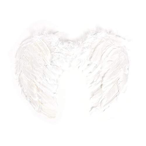 Hen Night Fancy Dress Costume | Feather Fairy Angel Wings | Halloween Party Event Supplies Halloween Party DIY Decorations (White/Black) (White)