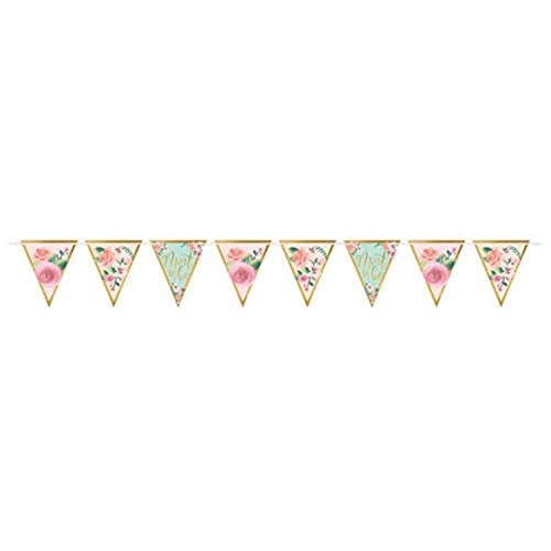 WEDDING AND BRIDAL Mint to Be PENNANT BANNER (15ft) ~ Party Shower Supplies Deco