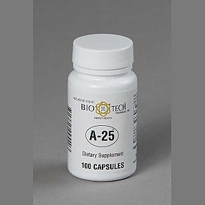 Bio-Tech Pharmacal A-25 Vitamin A 25,000 IU -- 100 capsules