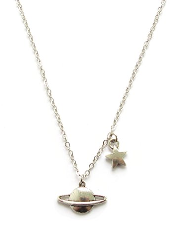 saturn-and-star-necklaceplanet-saturn-pendant-necklace-outer-space-silver-tone-pendant-galaxy-jewelr