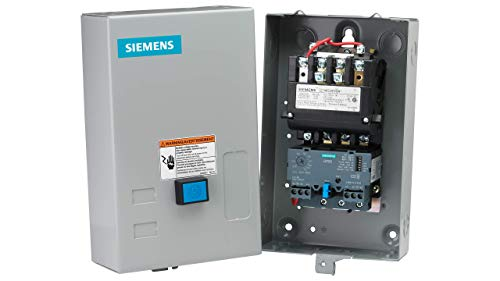 Siemens 14CUC32BA Heavy Duty Motor Starter, Solid State Overload, Auto/Manual Reset, Open Type, NEMA 1 General Purpose Enclosure, 3 Phase, 3 Pole, 0 NEMA Size, 3-12A Amp Range, A1 Frame Size, 110-120/220-240 at 60Hz Coil Voltage ()