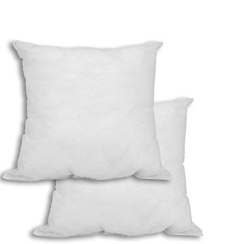 [PILE OF 2] 16 X 16 Pillow Insert Hypoallergenic Premium Square Sham Stuffer Polyester Form, White