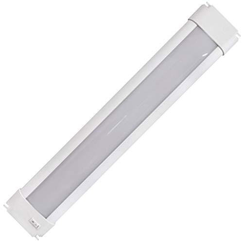 """Sylvania 72273 18"""" Convertible Under Cabinet Light, Hardwire or Plug-in, Linkable Undercabinet, White"""