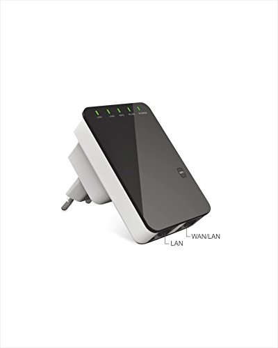Laptone 300Mbps Multi-function Wireless N Repeater/Router/AP/Client/Bridge with WPS,2 Ethernet port by Laptone