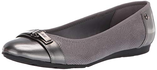 Anne Klein Women's Able Ballet Flat Shoe, Grey Multi, 8.5 W US