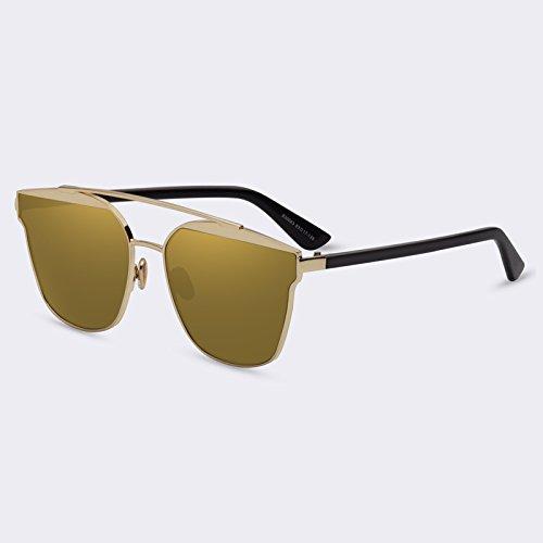 calidad C04Gold reflejado Eyewears mujeres Ponte Señor sol objetivo C05Espejo de Doppio marco lujo Gafas de Gafas TIANLIANG04 A1UIqI