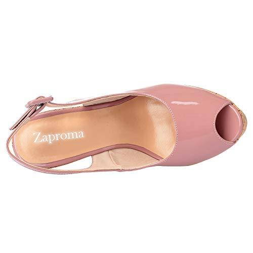 Femme Rose 36 Escarpins ZAPROMA pour ZPM019 5 Rose CgIqxt7xwn