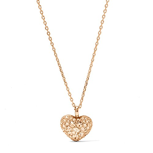 Rose Pendant Fossil (Fossil Glitz Heart Pendant Necklace JF01156791)