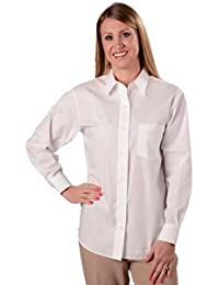 Wrinkle Free Solid Shirt, Classic Fit, White, Women's Sizes 14W-24W