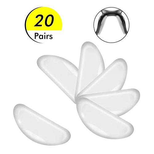 Silicone Adhesive Eyeglass Nose Pads - 20 Pairs Nose Pads for Eyeglasses