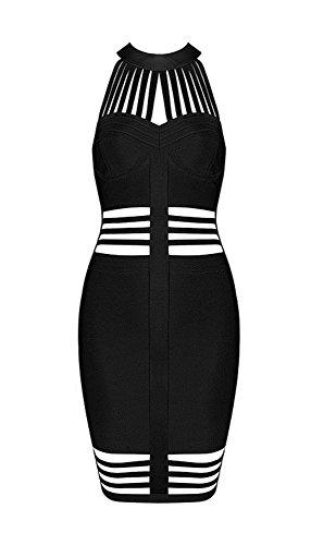 Mini negro Verano Ajustado Vestido De Noche Mujer Casual Para K Bar Corto Vestidos R48TwFnq