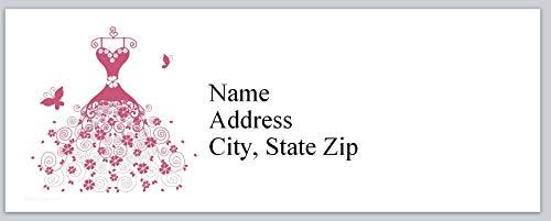 (150 Personalized Address Labels Wedding Pink Dress (P 375))