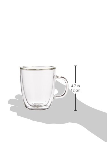 Bodum Bistro Coffee Mugs, Double-Wall Insulated Glass, Clear, 10 Ounces Each (Set of 2) by Bodum (Image #4)