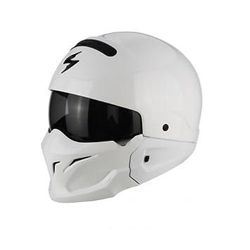 Scorpion Exo Combat cascos de motocicleta, color blanco, tamaño M