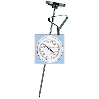Digi-Sense Stainless Steel Bimetal Pocket Thermometer, 1.75