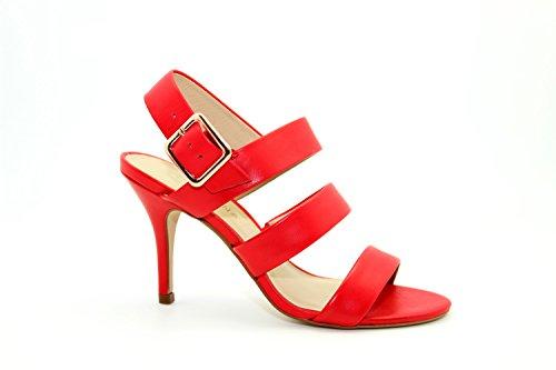 Edle Leder Pumps Sandalette SAN MARINA Vucola Rouge Rot