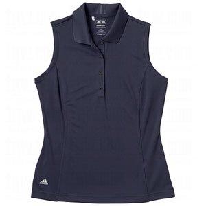 - adidas Taylormade Womens Climalite Sleeveless Solid Polo Shirt Top (Large (6), Quartz)