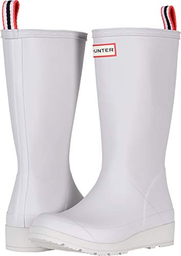 Hunter Women's Original Play Boot Tall Rain Boots Hunter White 11 M US M (Womens Size 11 Hunter Boots)