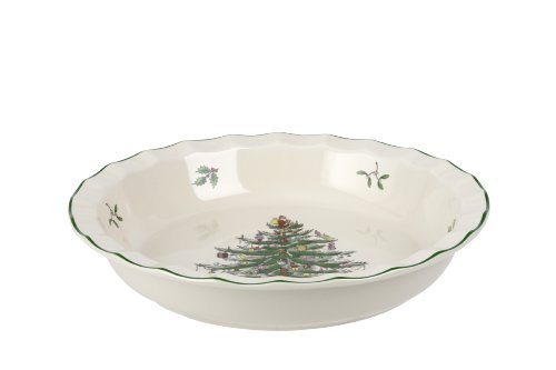 Spode Christmas Tree Pie Plate, 10-Inch (Christmas Tree Serving Platter)