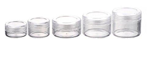 24PCS Clear Empty Plastic Cosmetic Jars Face Creams Eyeshado