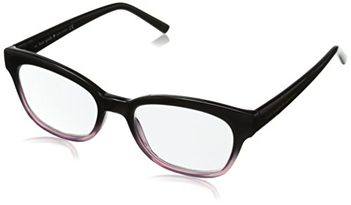 Kate Spade Women's Amilia Rectangular Readers, Black & Pink Fade, - Spade Pink Glasses Kate