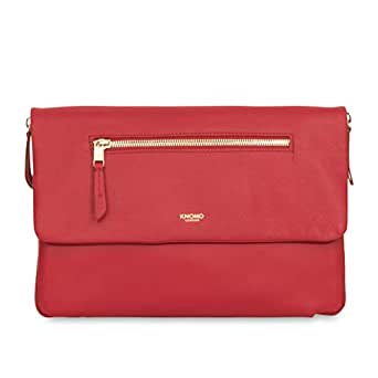 "Knomo Mayfair Luxe Elektronista, 10"" Digital Clutch/Shoulder Bag, with Device Protection, RFID Pocket and KNOMO ID, Chilli"