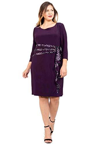 R&M Richards Short Mother of The Bride Dress Formal Plus Size (22W, Plum) (R & M Richards Dresses Mother Of Bride)
