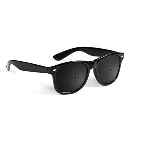 - Hongma Anti-Fatigue Myopia Prevention Glasses with Pinholes Black Five pin Hole Glasses