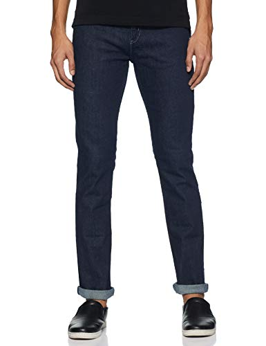 Lee Men's (Bruce) Skinny Fit Mid Rise Jeans 2021 July Care Instructions: Machine wash cold, colour may transfer, wash separately, use mild detergent, turn inside out before washing and drying, do not bleach, warm iron, do not wring, tumble dry or flat dry in shade, do not iron on print or embellishment or embroidery Fit Type: Skinny 98% Cotton and 2% elastane