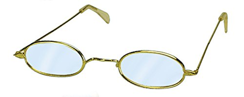 Loftus International Oval Old Granny Costume Glasses, Silver, One (Old Granny Costume)